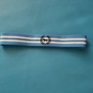 PINK blue and white headband